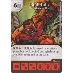 Red Hulk - Thunderbolt Ross (Die  & Card Combo)