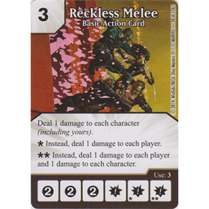 Reckless Melee - Basic Action Card (Card Only)