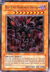 Red-Eyes Darkness Dragon - SD1-EN001 - Ultra Rare - 1st Edition