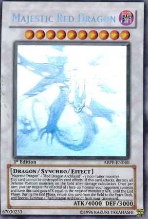 Majestic Red Dragon - ABPF-EN040 - Ghost Rare - 1st Edition