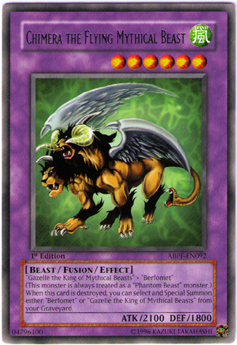 Chimera the Flying Mythical Beast - ABPF-EN092 - Rare - 1st Edition