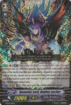Demonic Lord, Dudley Lucifer - FC02/020EN - RRR