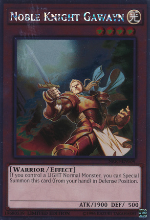 Noble Knight Gawayn - NKRT-EN004 - Platinum Rare - Limited Edition