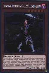 Ignoble Knight of Black Laundsallyn - NKRT-EN005 - Platinum Rare - Limited Edition