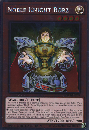 Noble Knight Borz - NKRT-EN009 - Platinum Rare - Limited Edition