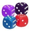 Squishy Dice Set: 2-Inch D6 - Pips (4)