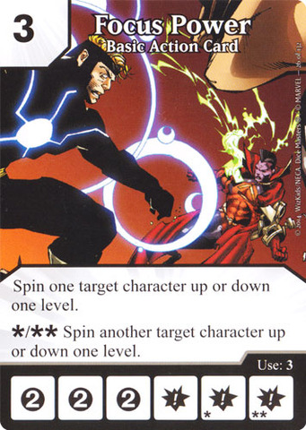 Basic Action Card - Focus Power (Die & Card Combo)
