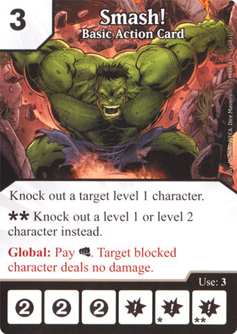 Basic Action Card - Smash! (Die & Card Combo)