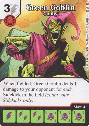 Green Goblin - Gobby (Die & Card Combo)