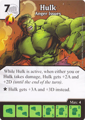 Hulk - Anger Issues (Die & Card Combo)