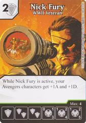 Nick Fury - WWII Veteran (Die & Card Combo)