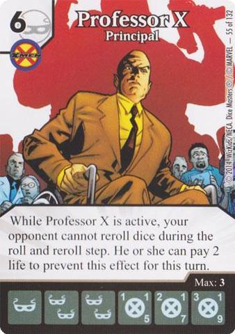 Professor X Principal Die Amp Card Combo Dice Masters