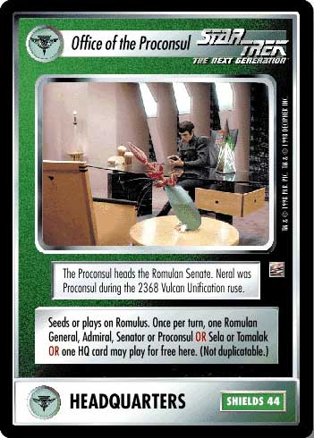 Office Of The Proconsul Star Trek Ccg 1e The Dominion