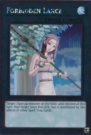 Forbidden Lance - NKRT-EN042 - Platinum Rare - Limited Edition