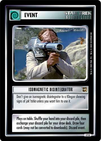 Isomagnetic Disintegrator - Star Trek CCG 1E » The Motion Picture