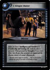 A Klingon Matter
