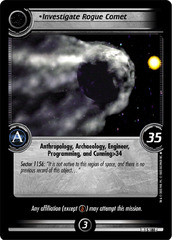 Investigate Rogue Comet