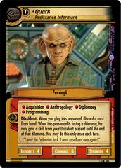 Quark, Resistance Informant