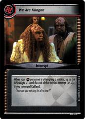 We Are Klingon