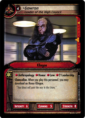 Gowron, Leader of the High Council