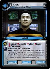 Data, Commanding Officer