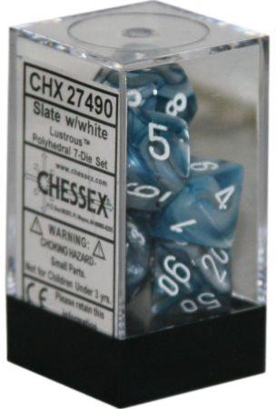7 Die Set Lustrous Slate w/White CHX 27490