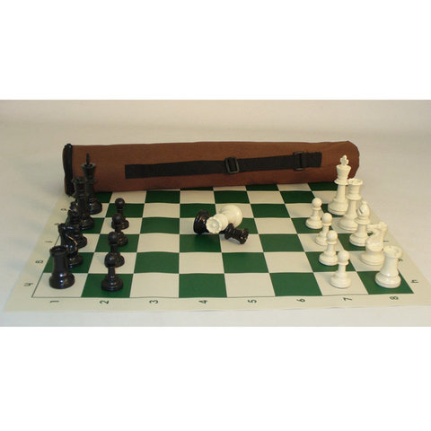 First Chess Set w/ Vinyl Board and Carry Case