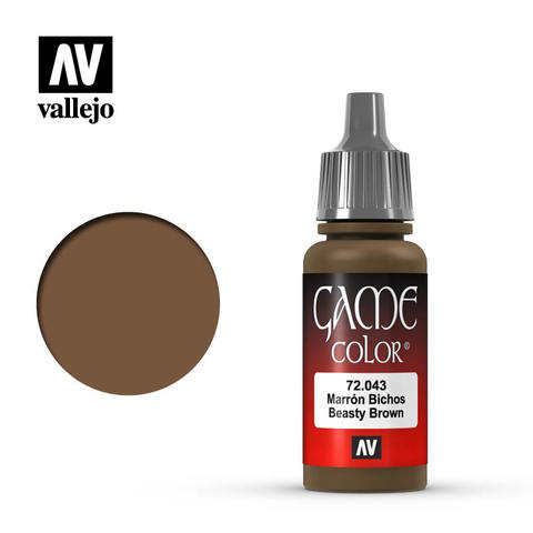 Vallejo Game Color - Beasty Brown - VAL72043 - 17ml