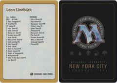 1996 Leon Lindback Decklist Card
