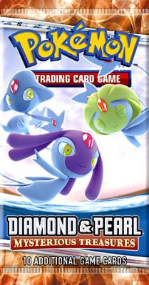 Diamond and Pearl Mysterious Treasures Pokemon Factory Sealed Booster Pack