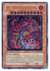 Uria, Lord of Searing Flames - SOI-EN001 - Ultimate Rare - 1st Edition