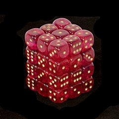 36 Magenta w/gold Borealis 12mm D6 Dice Block - CHX27824