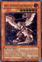 Horus the Black Flame Dragon LV6 - Ultimate - SOD-EN007 - Ultimate Rare - 1st Edition on Channel Fireball