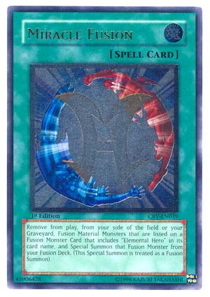Miracle Fusion - CRV-EN039 - Ultimate Rare - 1st Edition