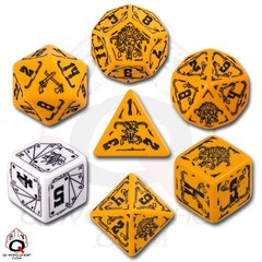 Deadlands Orange / Black 7 Dice Set