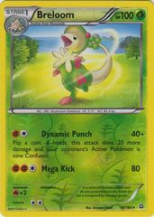 Breloom - 16/160 - Rare - Reverse Holo on Channel Fireball