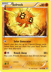 Solrock - 83/160 - Common on Channel Fireball