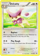 Delcatty - 114/160 - Rare on Channel Fireball