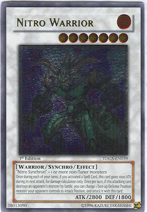 Nitro Warrior - TDGS-EN039 - Ultimate Rare - 1st Edition