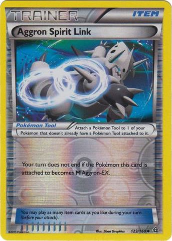 Aggron Spirit Link - 123/160 - Uncommon - Reverse Holo