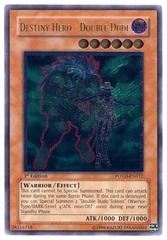 Destiny Hero - Double Dude - Ultimate - POTD-EN012 - Ultimate Rare - 1st Edition on Channel Fireball