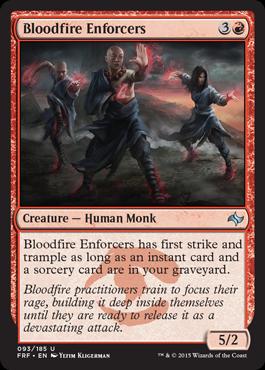Bloodfire Enforcers - Foil