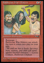 Balduvian War-Makers (1) on Channel Fireball