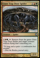 Giant Trap Door Spider on Channel Fireball