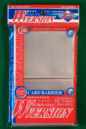 KMC W-Version Sleeves - Clear - 80ct
