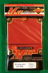 KMC Matte Red Sleeves (80 ct)