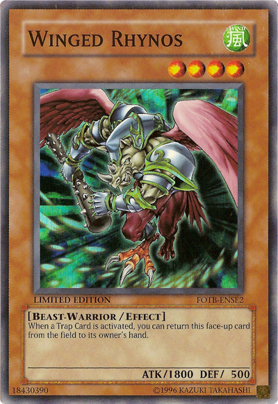 Winged Rhynos - FOTB-ENSE2 - Super Rare - Promo Edition