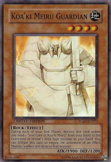 Koa'ki Meiru Guardian - RGBT-ENPP3 - Super Rare - Limited Edition - Promo