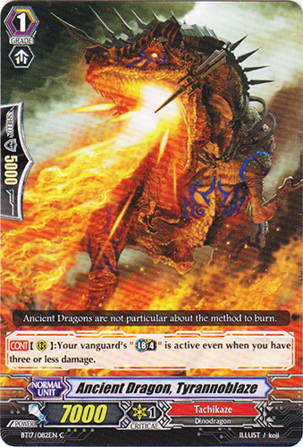 Ancient Dragon, Tyrannoblaze - BT17/082EN - C