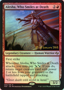 Alesha, Who Smiles at Death - Foil - Prerelease Promo